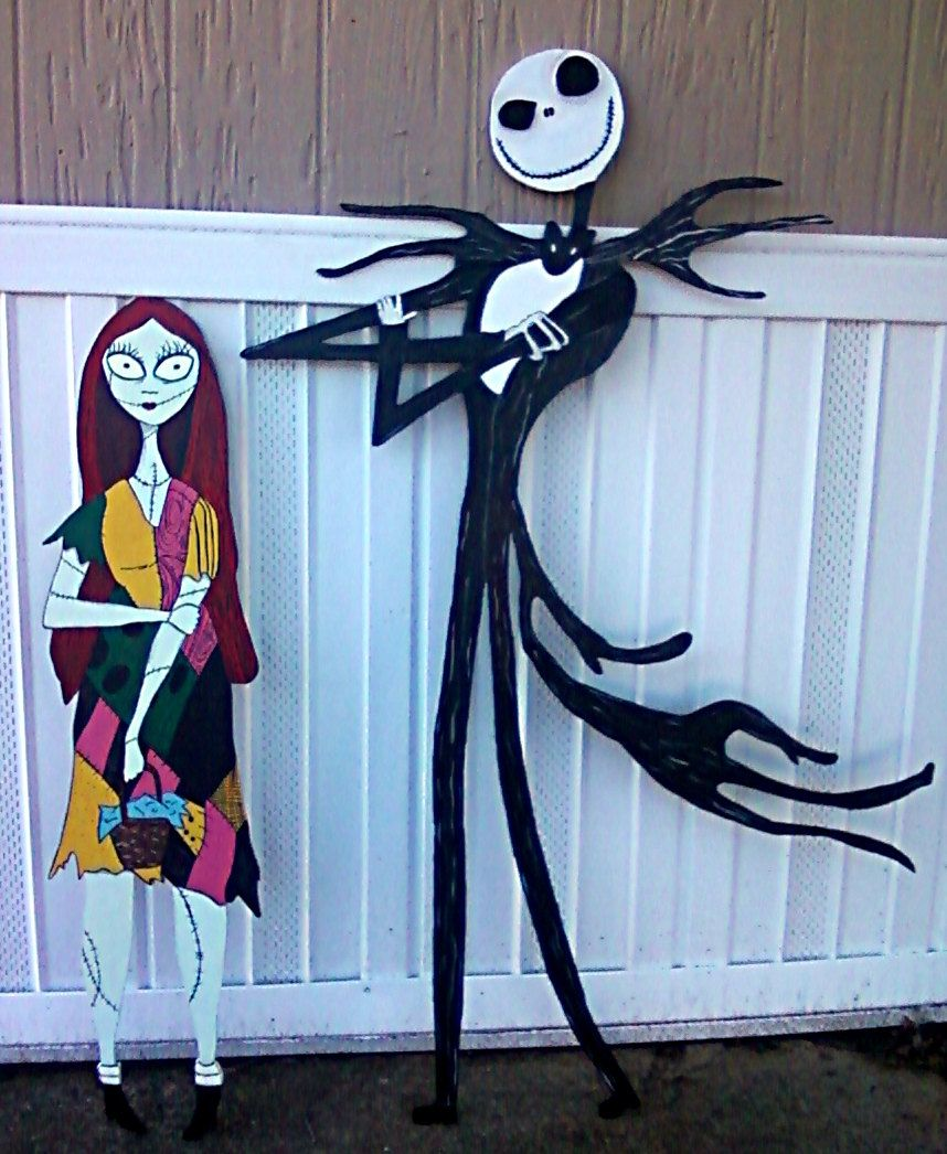 Jack and Sally Nightmare before Christmas Halloween Yard decor 5 ft ...
