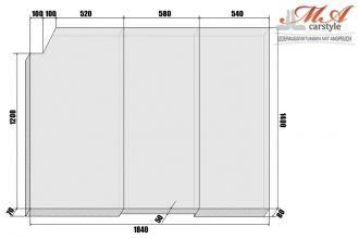 Komfortmatratze Matratze 3 Teilig Vw T4 Multivan Grau Vw T4 Multivan Vw T4 T4 Multivan