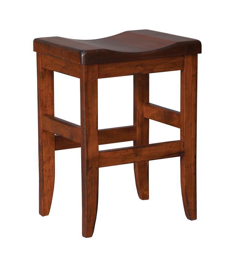Amish Clifton Mission Backless Bar Stool Amish Furniture Backless Bar Stools Bar Stools