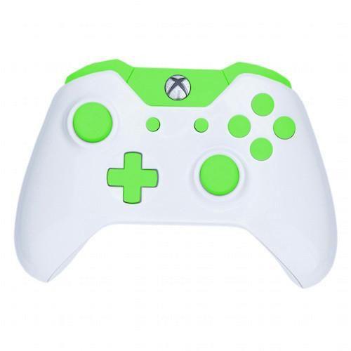 Modfreakz Shell Kit Arctic White Green For Xbox One Model 1537