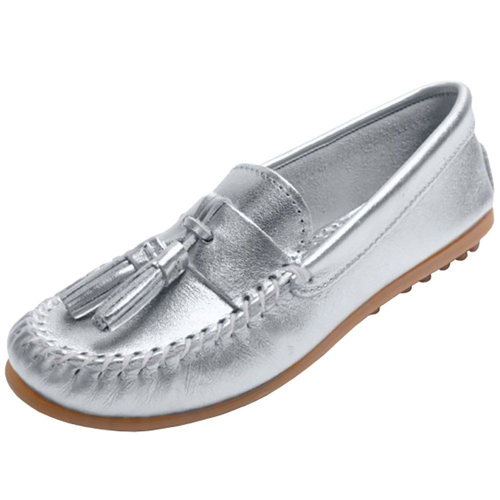Women s Minnetonka Silver Metallic Grace Moc  065d1fb7f2b5