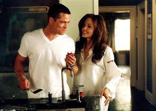 #MrAndMrSmith #BradPitt and #AngelinaJolie