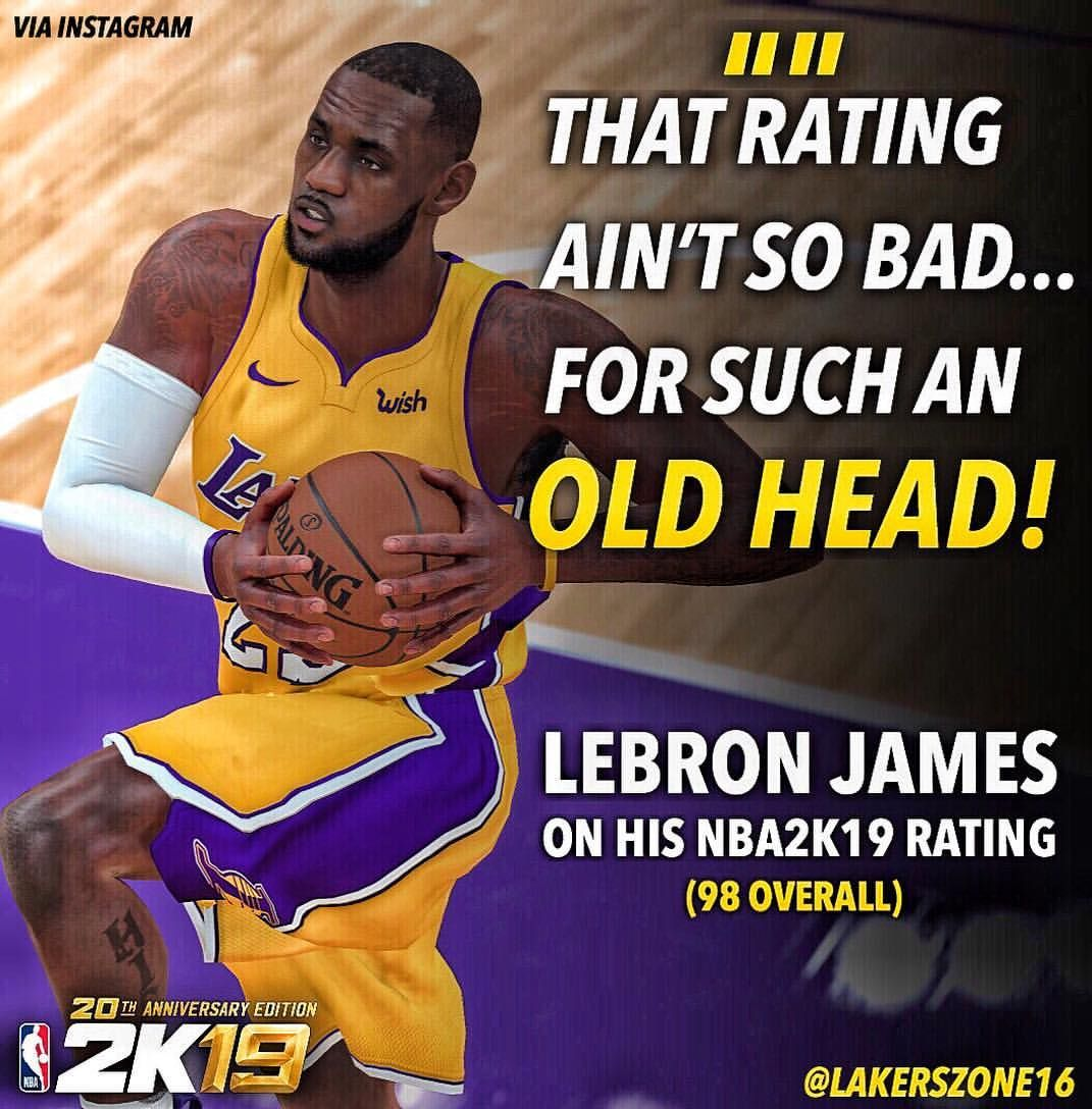 650988a39a7 Does Lebron deserve to be a 98 overall in  NBA2K19  👑  ronnie2k ...