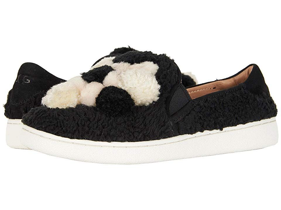 16aef843210 UGG Ricci Pom Pom (Black) Women's Slip on Shoes. The fun Ricci Pom ...