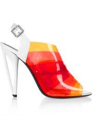 FendiDégradé PVC and patent-leather sandals
