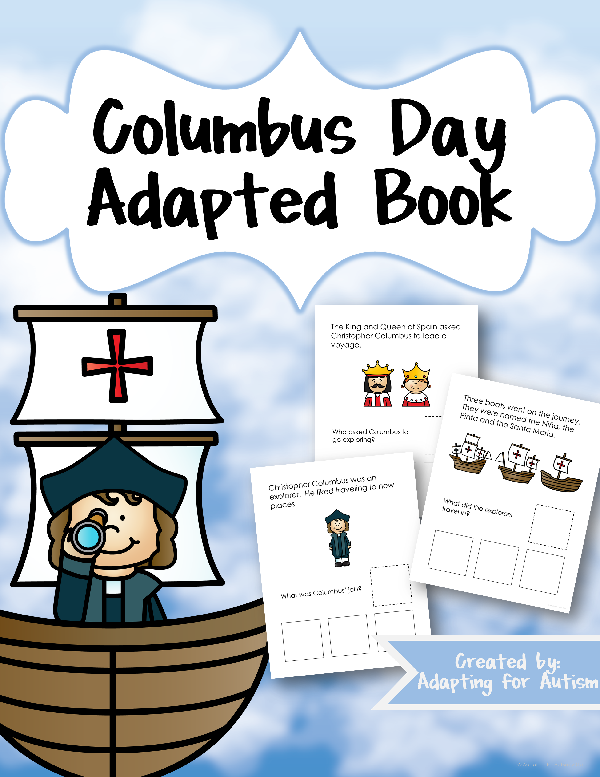 Adapted Book Of Wh Questions Columbus Day