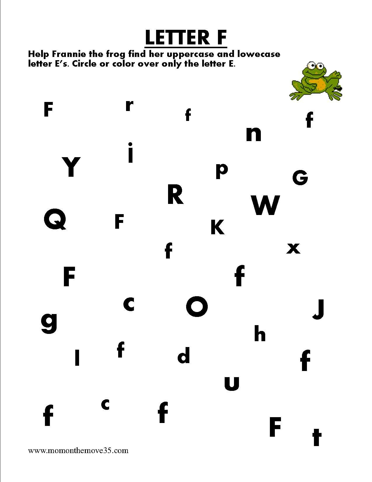 Find Letter F Worksheets