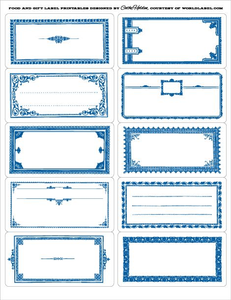 Food Labels For Some Of The White Mason Jars In Blue Or Black