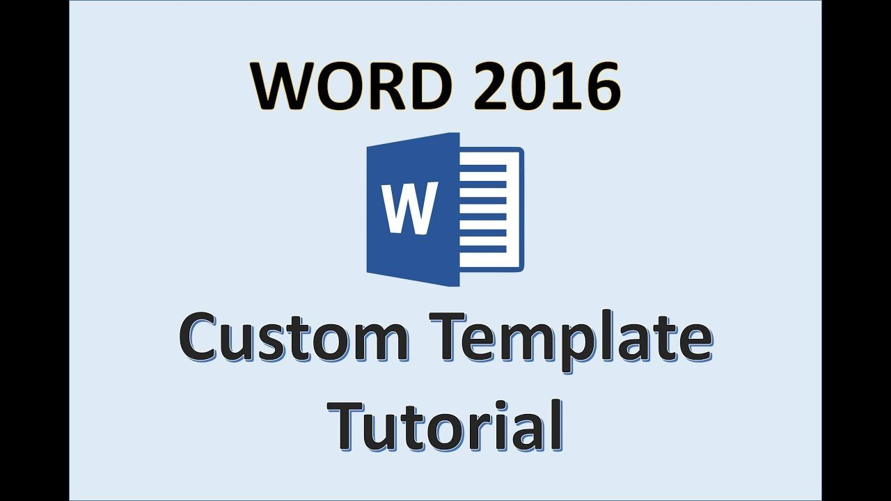 The Breathtaking Word 2016 Creating Templates How To Create A Template In Ms Office Make A Template In 2020 Word Template Words Book Template