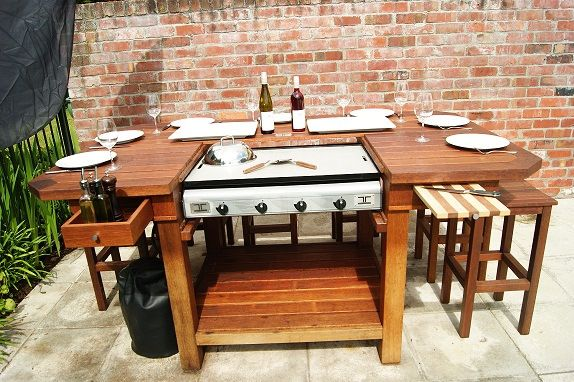 Teppantable Outdoor Teppanyaki Outdoor Kitchen Outdoor
