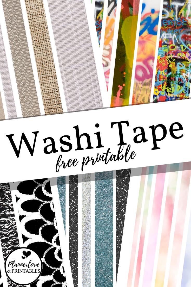 Free Printable Washi Tape Free Printable Planner Stickers Free Digital Scrapbooking Paper Printable Planner Stickers