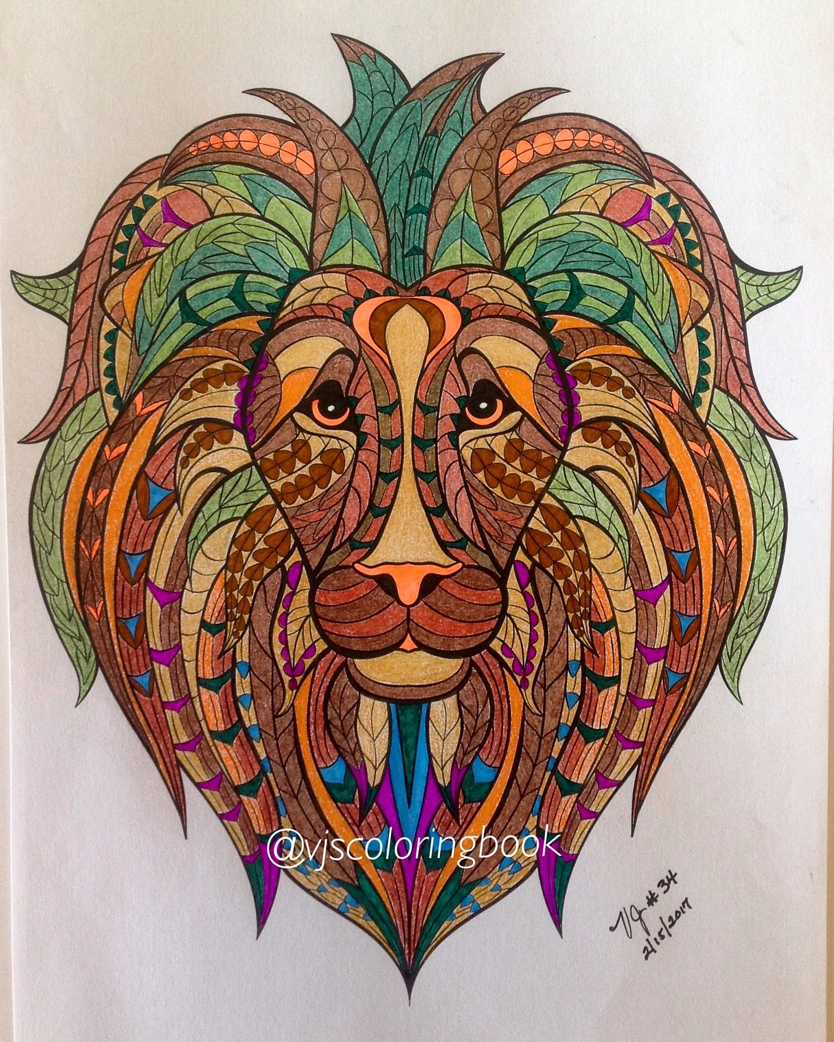 From Blue Star Stress Relieving Animal Designs Coloring Book Pticy
