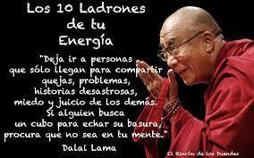 Resultado De Imagen Para Los 10 Ladrones De Tu Energía Dalai Lama Pdf Ladrones De Energia Pensamientos Citas