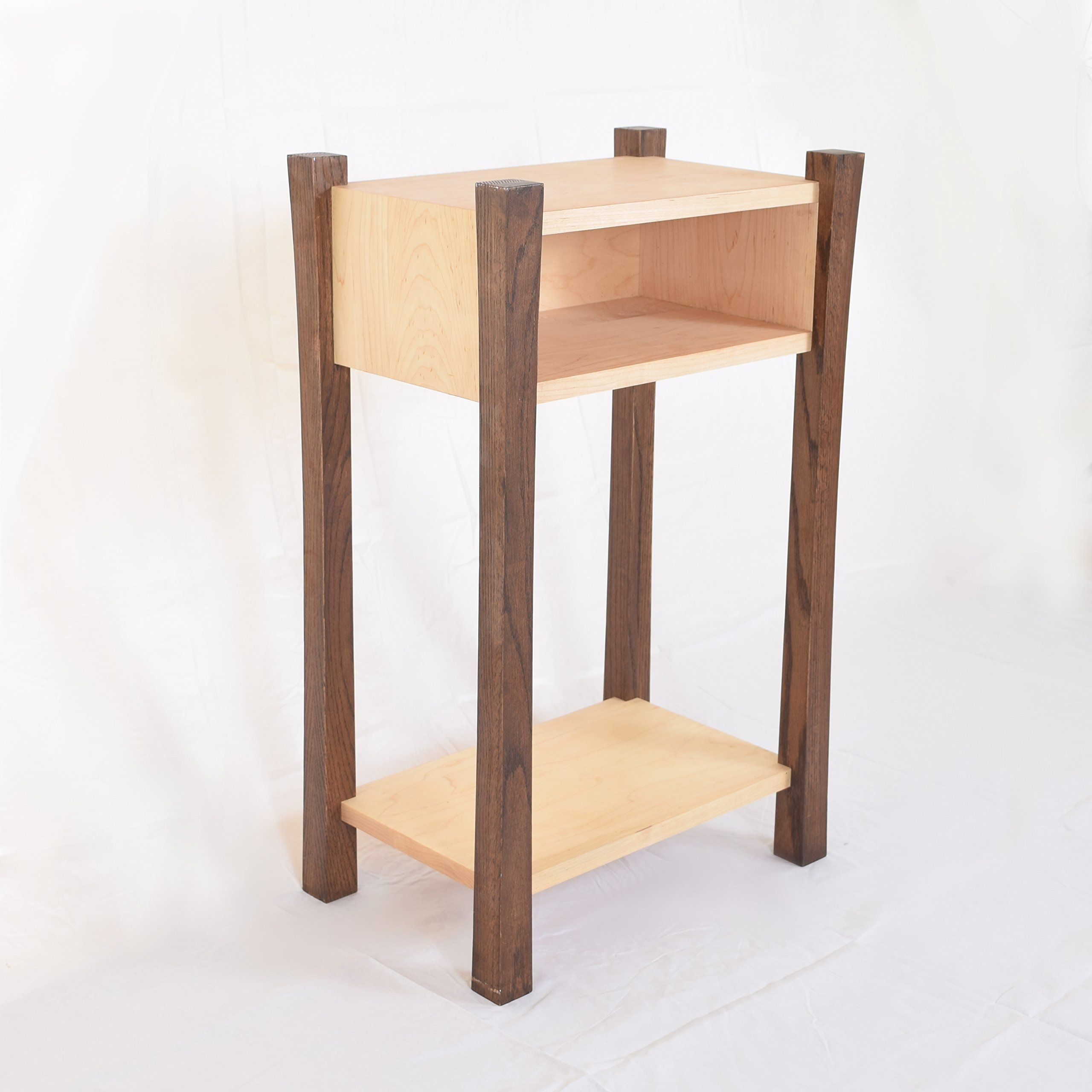 Bedside table asian style stylish modern wood bedside table this