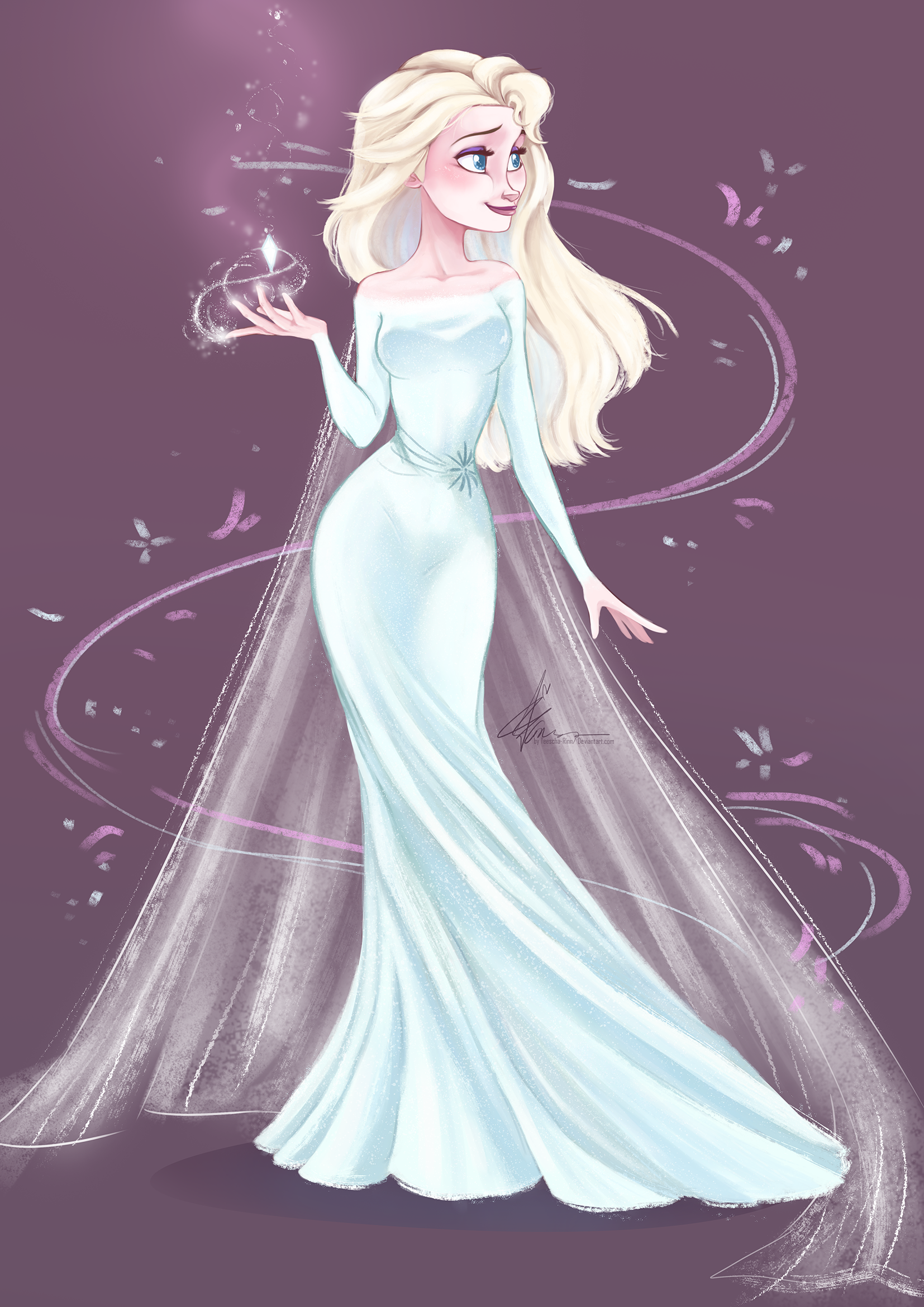 Elsa Frozen 2 Print Drawing Magic Dress Disney Illustration Digital Home In 2020 Disney Princess Elsa Disney Princess Drawings Disney Princess Dresses