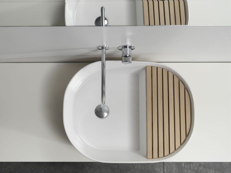 Step by ex t lavabo da appoggio in ceramica design note design