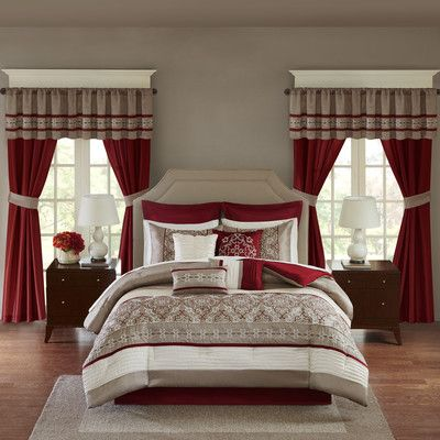 luxurious red white taupe embroiderey