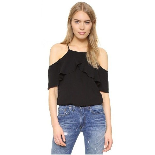 dcea582d4e7e2 Ella Moss Stella Cold Shoulder Blouse ( 130) ❤ liked on Polyvore featuring  tops