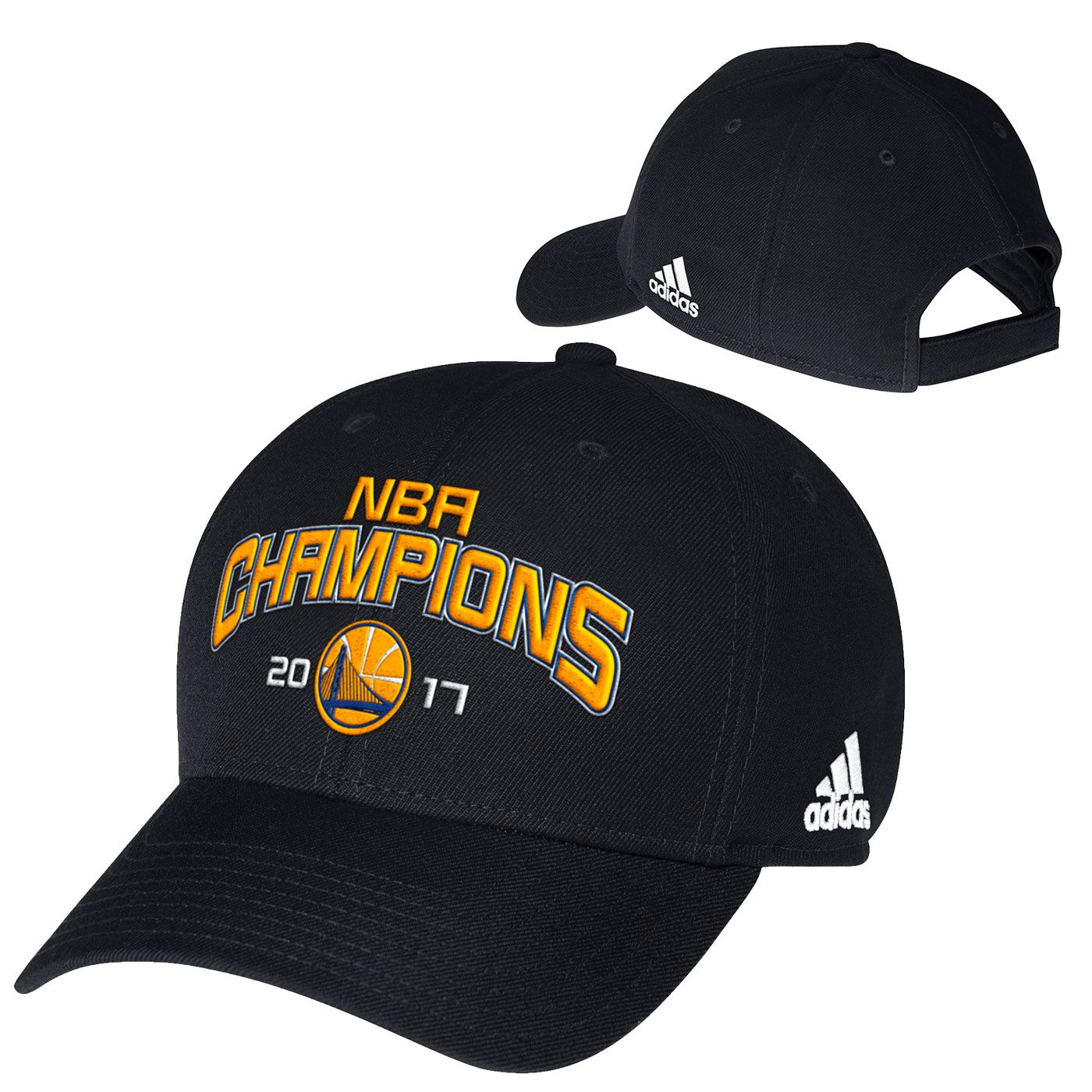 new styles e85b2 df2c6 Golden State Warriors adidas 2017 NBA Finals Champions Structured  Adjustable Cap - Black