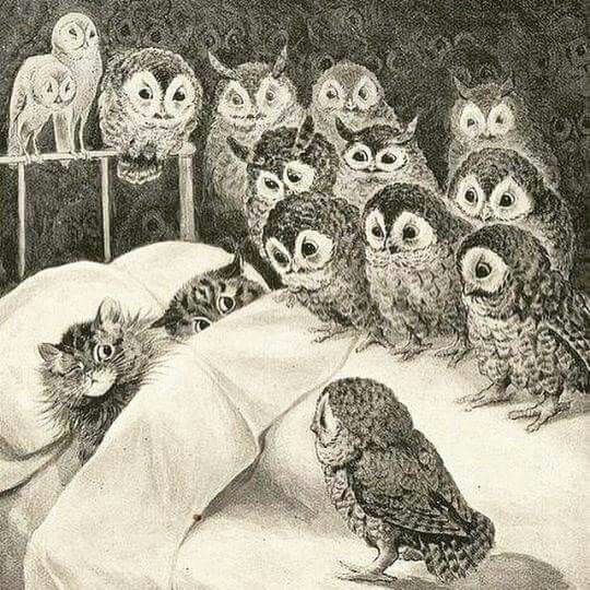 Cat's nightmare by Louis Wain