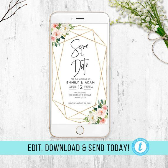 Electronic Save The Date For Wedding Electronic Invite