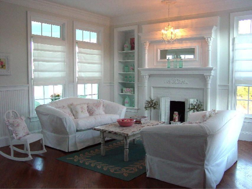 deco salon style shabby cottage style decorating ideas pinterest maison deco and cottage. Black Bedroom Furniture Sets. Home Design Ideas