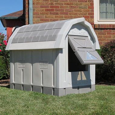 Asl Solutions Deluxe Insulated Dog Palace With Floor Heater Grey