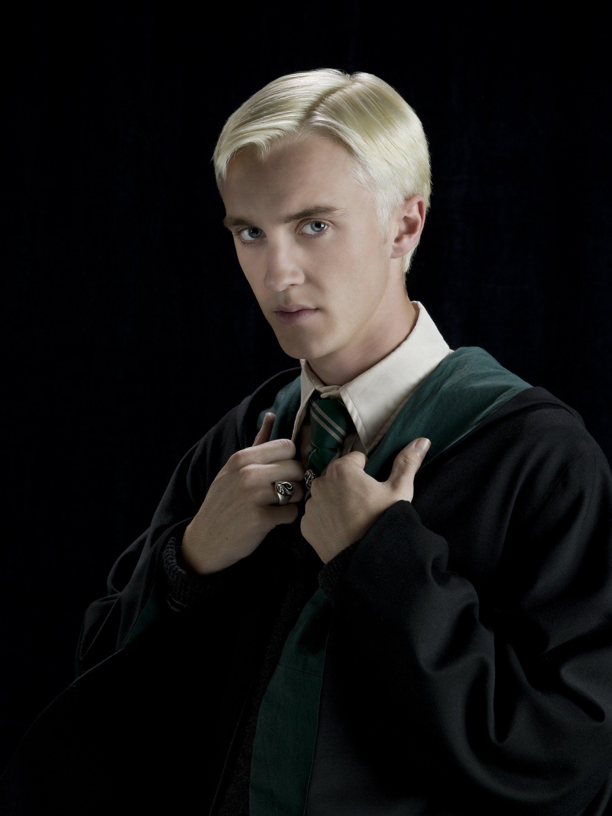 Harry Potter Slytherin Uniform Cosplay Costume Tom Felton