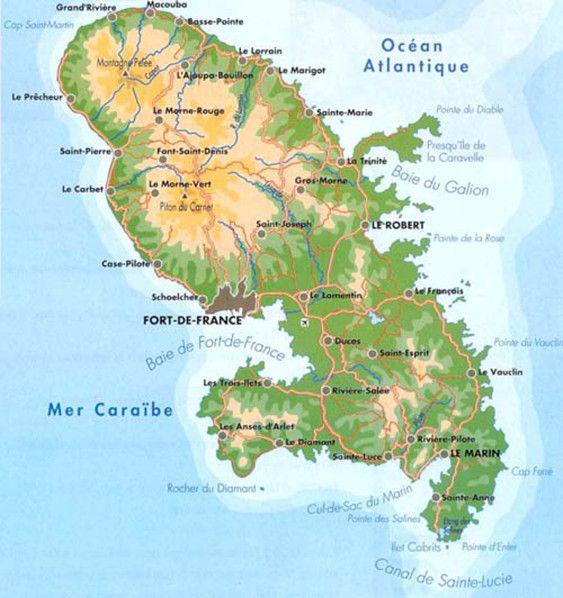 Carte Cuba Martinique.La Martinique In 2019 Roots Martinique Tahiti Hotels
