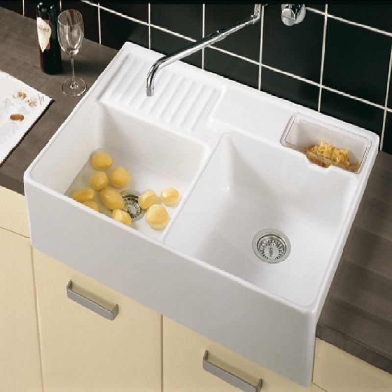 Double Ceramic Kitchen Sink Plan Villeroy And Boch Butler 90 Double Bowl  Ceramic Kitchen Sink 2 881 P
