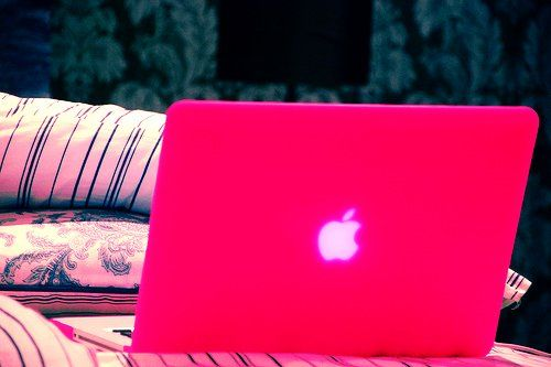 Fashion Neon Pink Macbook Air Cover