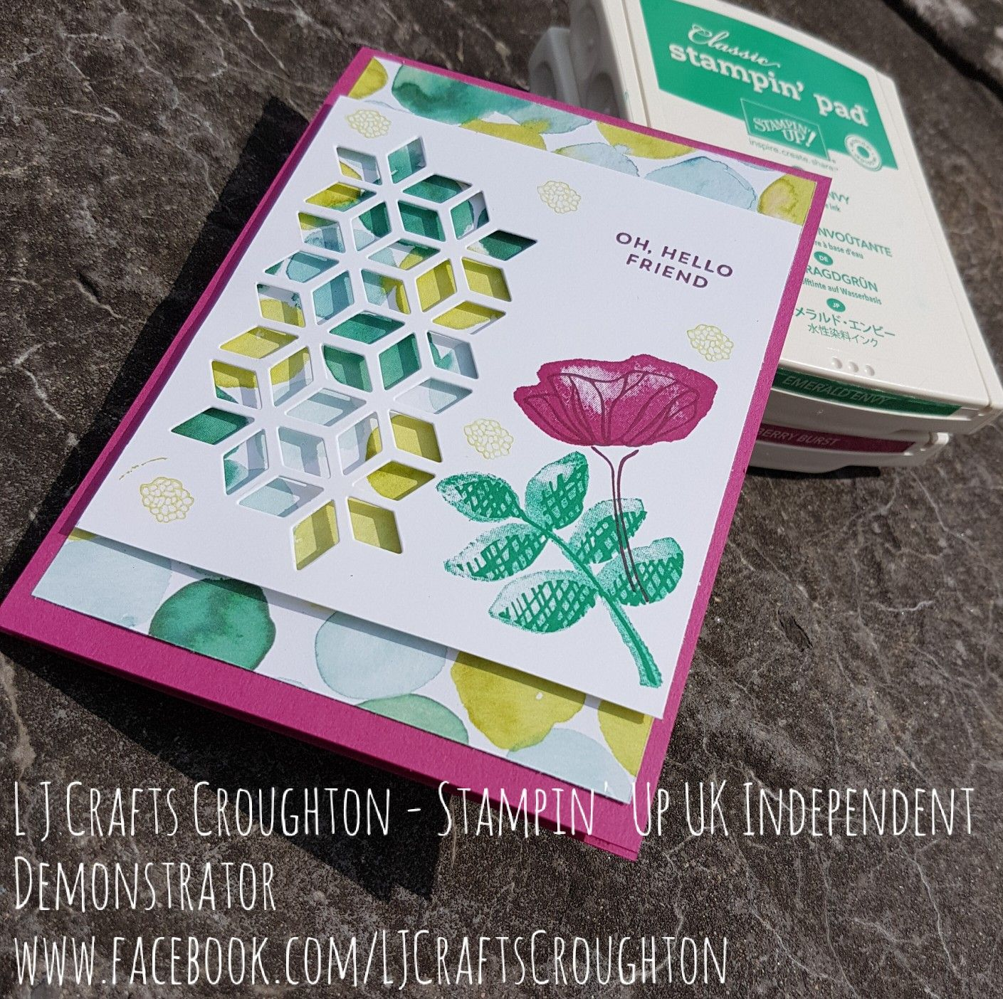 stampin up oh so eclectic bundle for any occasion card