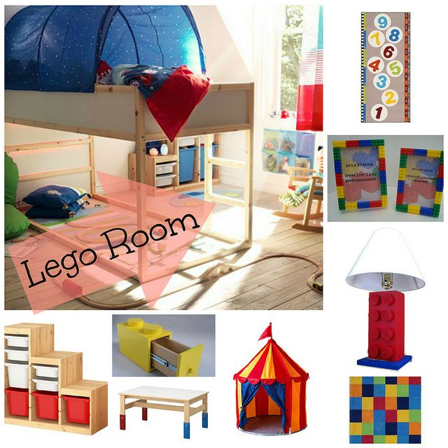 Room 2 Build Bedroom Kids Lego: Lego Children's Room Decor