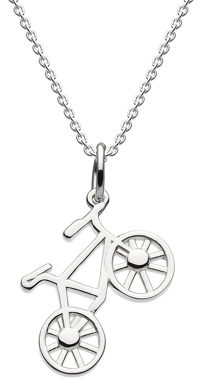 Dew Sterling Silver Bicycle Necklace of Length 45.7cm SPBksl