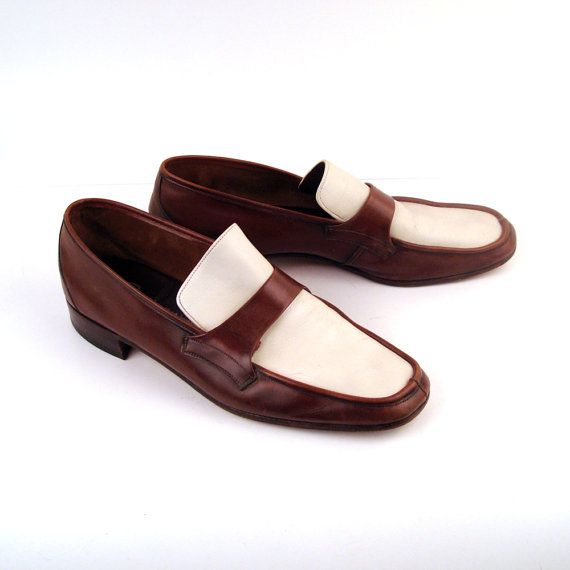 cc8b3e959f437 Reserved Men's Shoes Vintage 1970s Two tone Leather Loafers By Bally ...