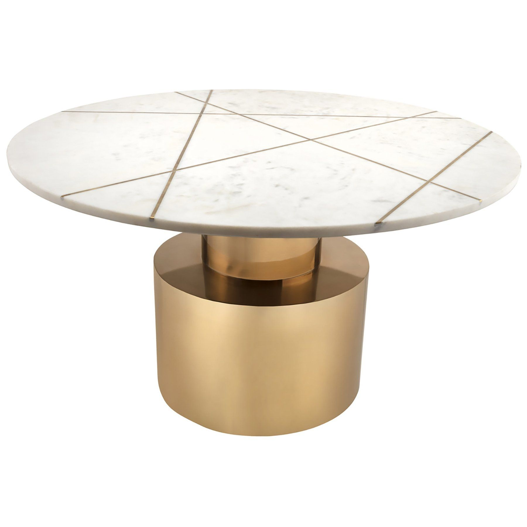 Candelabra Home Terzo Marble Side Table White Marble Cocktail Table Coffee Table White Marble Coffee Table