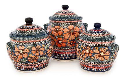 Blue Rose Pottery - Jungle Flower Set