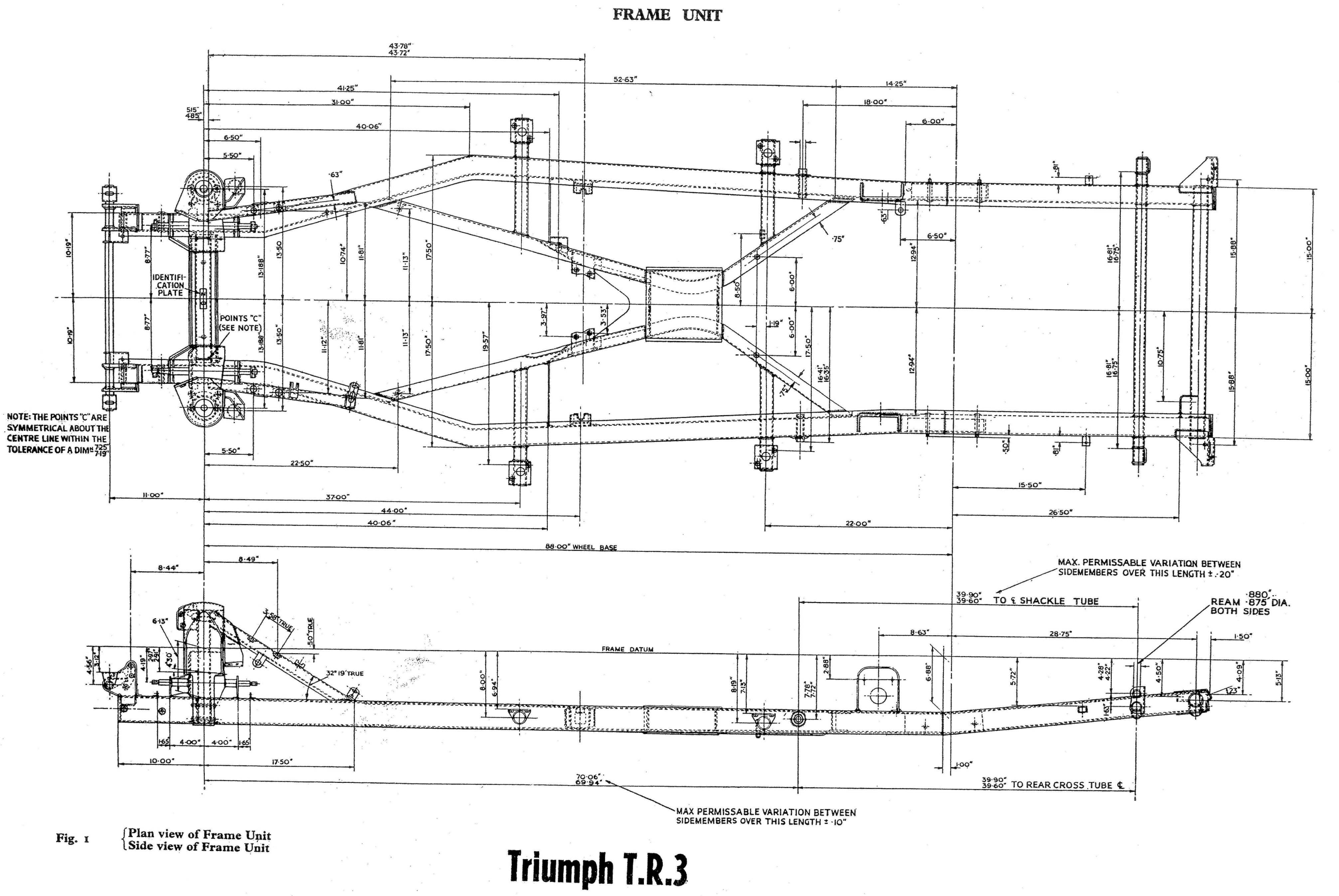 Image Result For Triumph Tr3 Frame