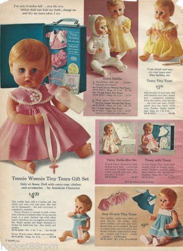 teen trunks tiny Sears dolls with