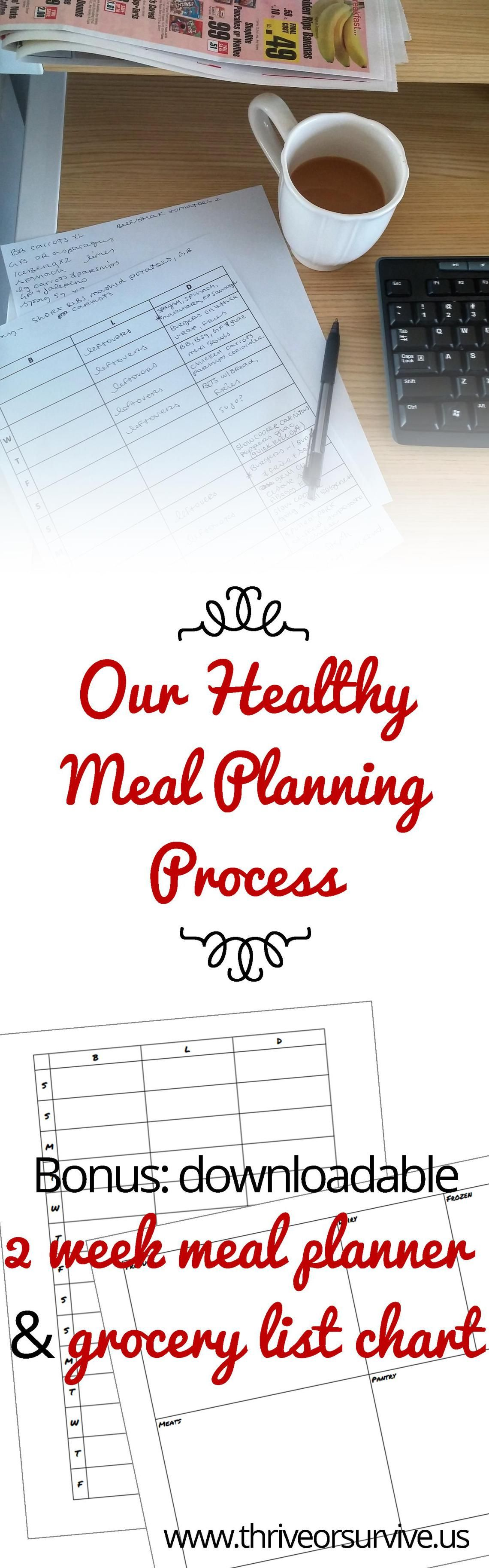 Our Healthy Meal Planning Process 2 Bonus Worksheets