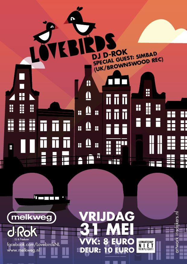 lovebirds amsterdam illustrator flyer design | Club Flyers ...