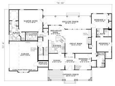 4 Bedroom With Bonus Room Over Whole House 2300 Sq Ft 1500 Sq Ft Bonus Southern House Plans Craftsman House Plans House Plans One Story