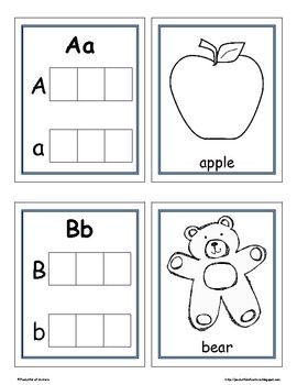 Letter Recognition  Beginning Sounds Printable Book