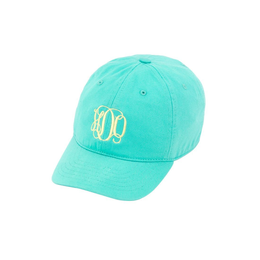 Mint Monogram Girls Cap