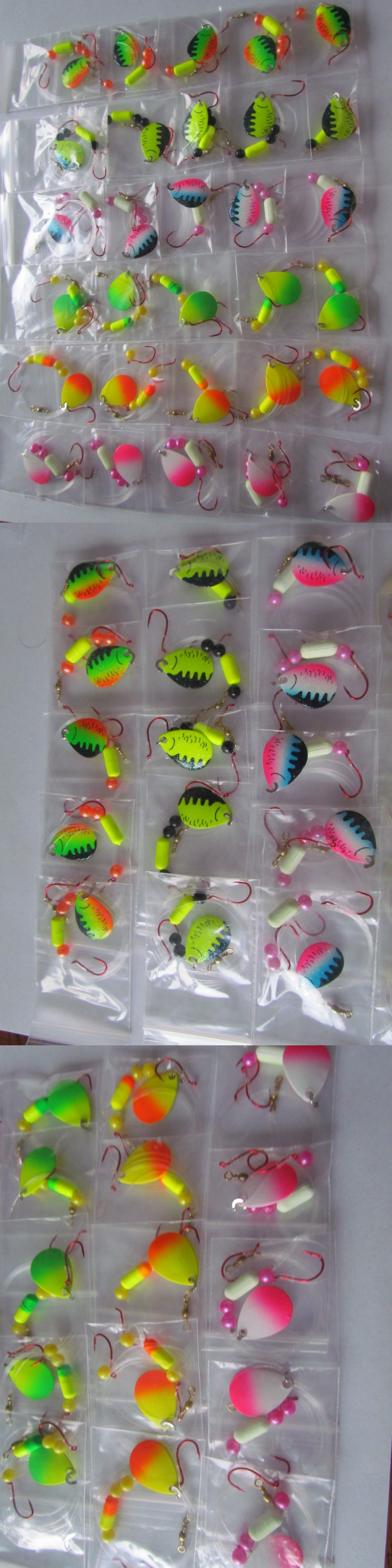 30 Spinner Floater Rigs Leech Minnow Crawler Harness Walleye Bass Pike Size 3