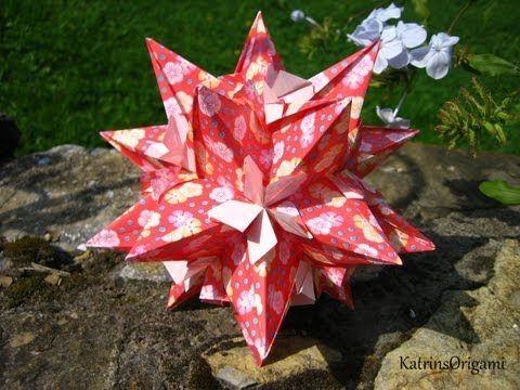 Origami ※ Castanea ※ Kusudama - YouTube