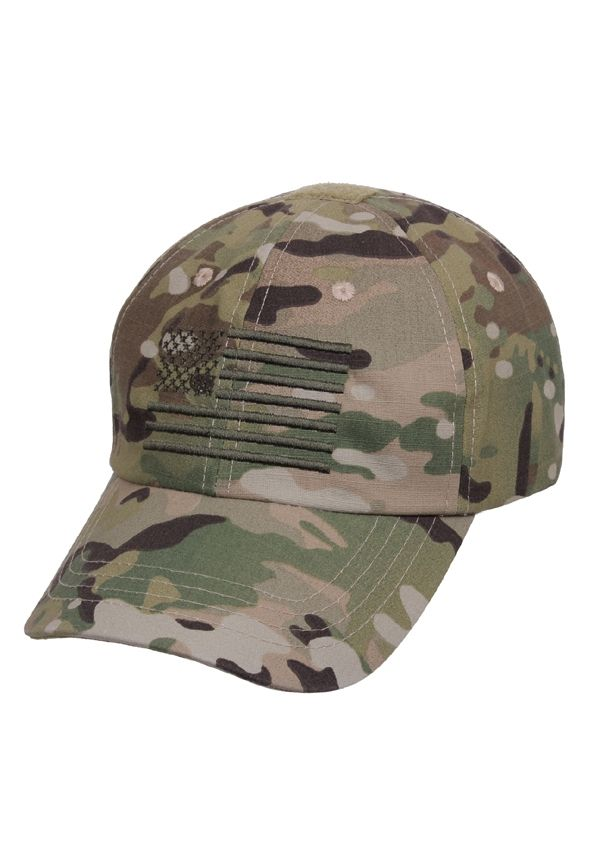 Multicam Tactical Operator Cap With US Flag 3cfe98469eb3
