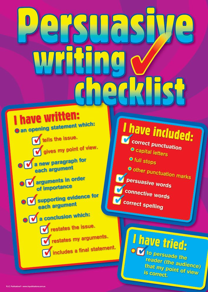 Check list for my messy heads Persuasive Text Posters - Teacher ...