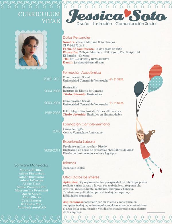 100 Creativos Diseños de Hojas de Vida Diseño currículum