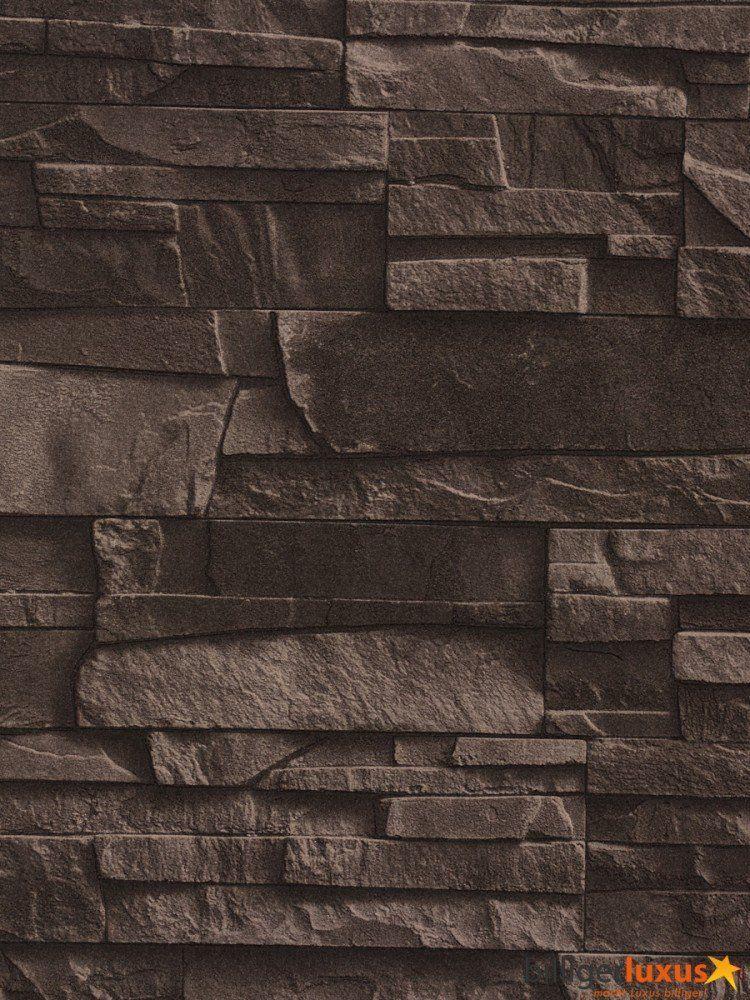 papier peint pierre de parement weng bricolage deco chambre bas. Black Bedroom Furniture Sets. Home Design Ideas